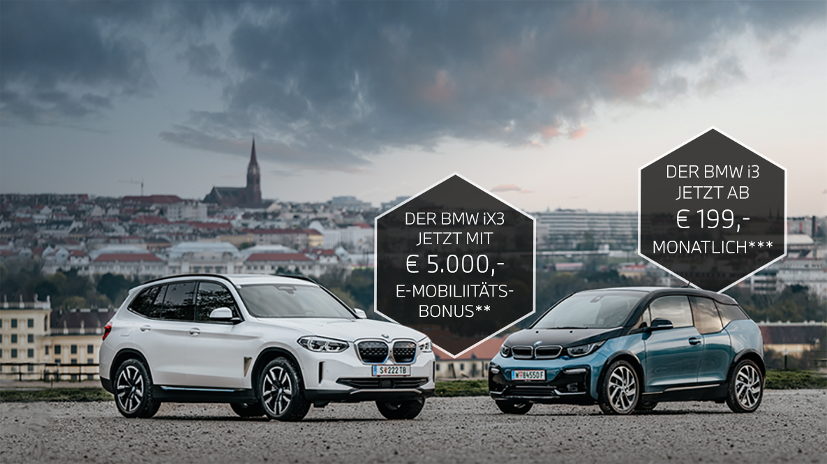 BMW iX3 mit Elektromobilitätsbonus und BMW i3 mit attraktiver Leasingrate